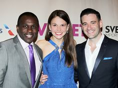 Joshua Henry, Sutton Foster and Colin Donnell on VIOLET's opening night