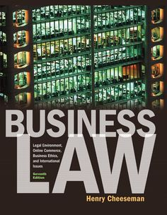 Test Bank for Business Law 7th Edition by Cheeseman ISBN 0136085547 9780136085546 INSTRUCTOR TEST BANK SOLUTIONS VERSION http://solutionmanualonline.com/product/test-bank-business-law-7th-edition-cheeseman-isbn-0136085547-9780136085546-instructor-test-bank-solutions-version/