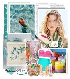 """STRAW BAG FOR SUMMER ON THE BEACH"" by neny-6 ❤ liked on Polyvore featuring Body by Victoria, Eugenia Kim, Etro, Tory Burch, Lilly Pulitzer, Fendi and strawbags"