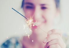 sparkler, fire, smile, holiday, laugh