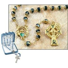 Claddaugh rosary like this would be sweet