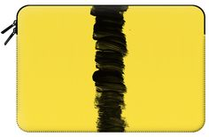 Casetify Macbook Pro 15 MacBook Tasche - Modern Black Brush Strokes on Bright Yellow by EightFour by EightFour X Curved Macbook Pro 15 Inch, Bright Yellow, Brush Strokes, Casetify, Modern, Sleeves, Black, Trendy Tree, Black People