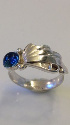 Blue Topaz Sterling Silver Ring - Size 8 by CopperfoxGemsJewelry on Etsy