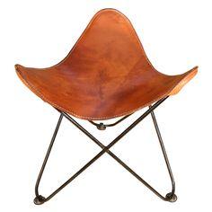 1950u0027s Leather Butterfly Stool  sc 1 st  Pinterest & Michael Arnoult Brazilian Leather Sling Chair | Armchairs Modern ... islam-shia.org