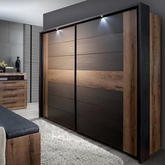Believue Sliding 2 Door Wardrobe Home Loft Concept Wall Wardrobe Design, Sliding Door Wardrobe Designs, Wardrobe Interior Design, Luxury Bedroom Design, Bedroom Closet Design, Home Room Design, Bedroom Furniture Design, Bedroom Wardrobe, Wardrobe Laminate Design