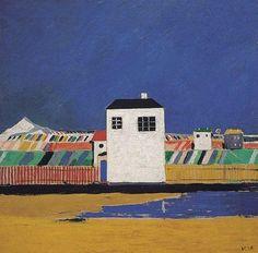 Каземир Малевич :: Пейзаж с белым домом (1929)