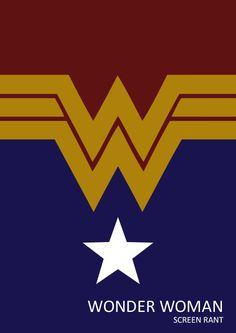 Wonder Woman minimalist illustration