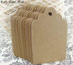 150 Brown Kraft Paper Gift Tags Wedding Favor by KatsPaperTrail, $15.00