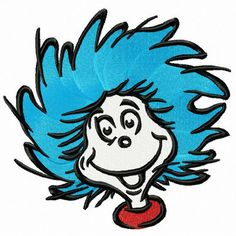 Thing 1 Face Happy Dr Seuss The Cat in the Hat svg dxf eps pdf png Dr. Seuss, Dr Seuss Art, Free Coloring, Coloring Pages, Dr Seuss Bulletin Board, Thing One Thing Two, 1 Clipart, Dr Seuss Clipart