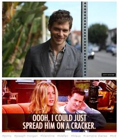 "Joseph Morgan TVD Klaus The Vampire Diaries.....""I could just spread him on a cracker"".....yes...yes I could."