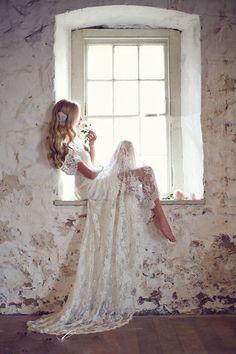 Barato 2016 boemia rendas vestidos de casamento do querido Backless 2016 Cap…