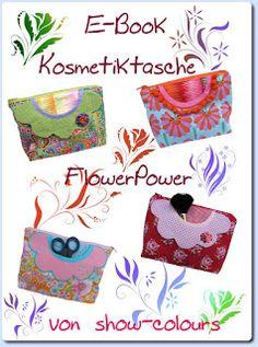 show colours: Freebie - E-Book Kosmetiktasche FlowerPower