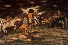 The battle of Lapiths and Centaurs - Giorgio de Chirico