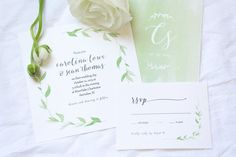 Watercolor Eucalyptus Wedding Invitation Suite | Sage Paper Co. | www.sagepaperco.com