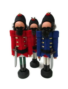 NEW in 2017! Our clothespin ornament nutcracker is a mixture of our own imagination along with inspiration from vintage German nutcrackers. Whether you are a fan of the Nutcracker ballet or just love holiday nutcrackers, hell fit in with any ornament collection. His body is made from