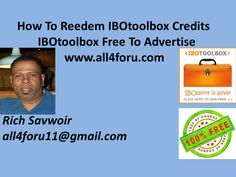 How To Redeem Your IBOtoolbox Credits For Free