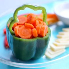 Green pepper and carrots pot of gold