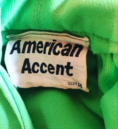 American Accent vintage clothing label Vintage Clothing, Vintage Outfits, Clothing Labels, Vintage Labels, Etsy Seller, American, Trending Outfits, Unique Jewelry, Clothes