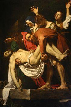 Entombment of Christ - Artist Michelangelo Merisi da Caravaggio. Baroque.
