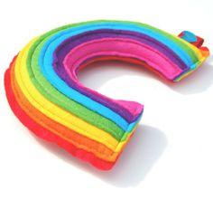 Rainbow Plushie  A Cute and Cuddly Plush Felt by therainbowroom, $37.50