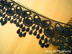 Venedig schwarz Spitze Applique2 Meter schwarz von mingmingworld, $8.00