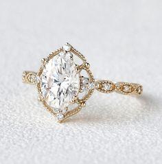 Vintage Inspired Engagement Rings, Dream Engagement Rings, Wedding Rings Vintage, Antique Engagement Rings, Antique Rings, Solitaire Engagement, Wedding Bands, Vintage Anniversary Rings, Engagement Gifts For Her