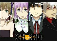 Maka, Crona, Death the Kid, Soul, cool, suits, dresses, outfits, text; Soul Eater
