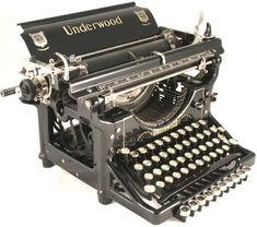 Oh, I know, writers and their Underwoods. But there's a reason for that. Look at this goddamn beautiful typewriter.