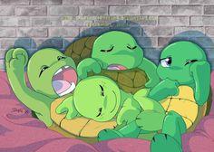 Turtle pile by Nakuru-Nebelung.deviantart.com on @deviantART. Babiieeesssss make my heart meeeeelllltttt...
