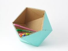DIY Recycled Cardboard Basket