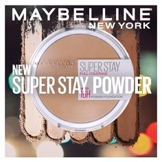 Maybelline's Super Stay Powder Foundation is a weightless formula that provides 16-hour wear and smooth application! It's ultra-creamy and full-coverage to diminish redness and even out your complexion. Maybelline has you covered! All 12 shades are available now at your local drugstore and online!