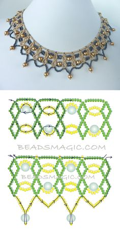 Diy necklace 809240626764690227 - FREE beading pattern for necklace Two-Tone Lacy Net Source by argeliadame Beading Patterns Free, Seed Bead Patterns, Beading Tutorials, Weaving Patterns, Embroidery Patterns, Free Pattern, Art Patterns, Painting Patterns, Crochet Patterns