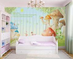 3D Colored Mushrooms 584 Wall Murals | AJ Wallpaper Kids Room Wallpaper, Paper Wallpaper, Self Adhesive Wallpaper, New Wallpaper, Custom Wallpaper, Cartoon Mushroom, 3d Wall Murals, 3d Cartoon, Traditional Wallpaper