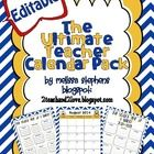 "UPDATED for the 2014/2015 School Year!!!  Great News: This product is EDITABLE! I love organization, so I came up with ""The Ultimate Teacher Calend..."