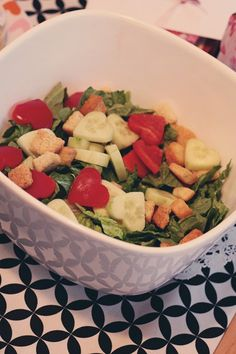 valentines day salad for home made dinner