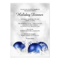 Holiday Dinner Invitation, Christmas Dinner Party