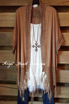 We could care less where you go in this trendy cardi! It's trendy, it has fringe, crochet and it's totally comfy! What more could you want?! - 60% cotton - 40% polyester - Hand Wash - Cold Wash - Impo
