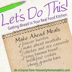 Let's Do This! Getting Ahead in the Kitchen and Make-Ahead Meals eBook