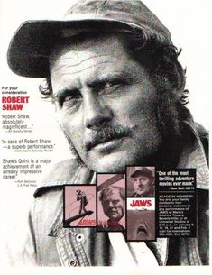 """Jaws Original 1975 """"For Your Consideration"""" Quint Robert Shaw"""