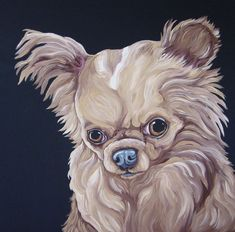 Custom Pet Portrait Your Dog Cat Or Bird 16 x 16 Canvas-Carla Smale-Bobbysbears #Realism