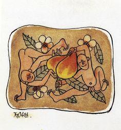 두어린이와 복숭아 - 이중섭