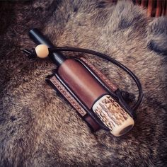 "mcqbushcraft: ""A custom 6"" x ½"" ferro rod made for Matt Cross. #bushcraft #firelighting #firesteel #leatherwork #crafts #bone "" The Best of Bushcraft and Survival - http://survivallovers.co"