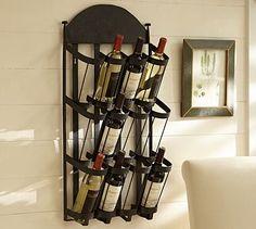 Vintners Wall-Mount Wine Rack #potterybarn