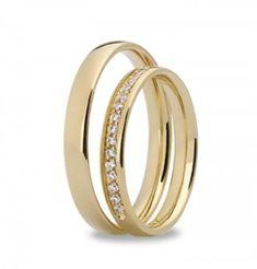 Forlovelsesring og giftering med diamanter