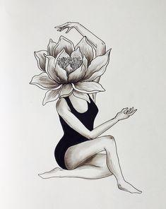 Illustration, art and murals by Miriam Castillo . Cool Art Drawings, Pencil Art Drawings, Art Drawings Sketches, Drawing Ideas, Deep Art, Art Sketchbook, Doodle Art, Art Inspo, Amazing Art