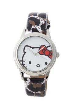 Hello Kitty Jewelry & Watches     Women's White Leopard Watch