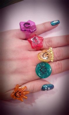 smiley face rings~