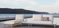 Contemporary design and modular flexibility provides multiple configuration options with the King Cove. Seat and back cushions and frames can be adjusted, removed and re arranged to suit every outdoor occasion. Outdoor Sofa, Outdoor Living, Outdoor Furniture, Outdoor Decor, Balconies, Porches, Sun Lounger, Exterior, King