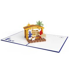 Nativity popup card.  Amazing.  Would like to see this open and shut