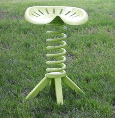 Tractor Seat Metal Stool Furniture Repurposed Vintage Tractor Seat Key Lime Tractor Chair Vintage. $345.00, via Etsy.